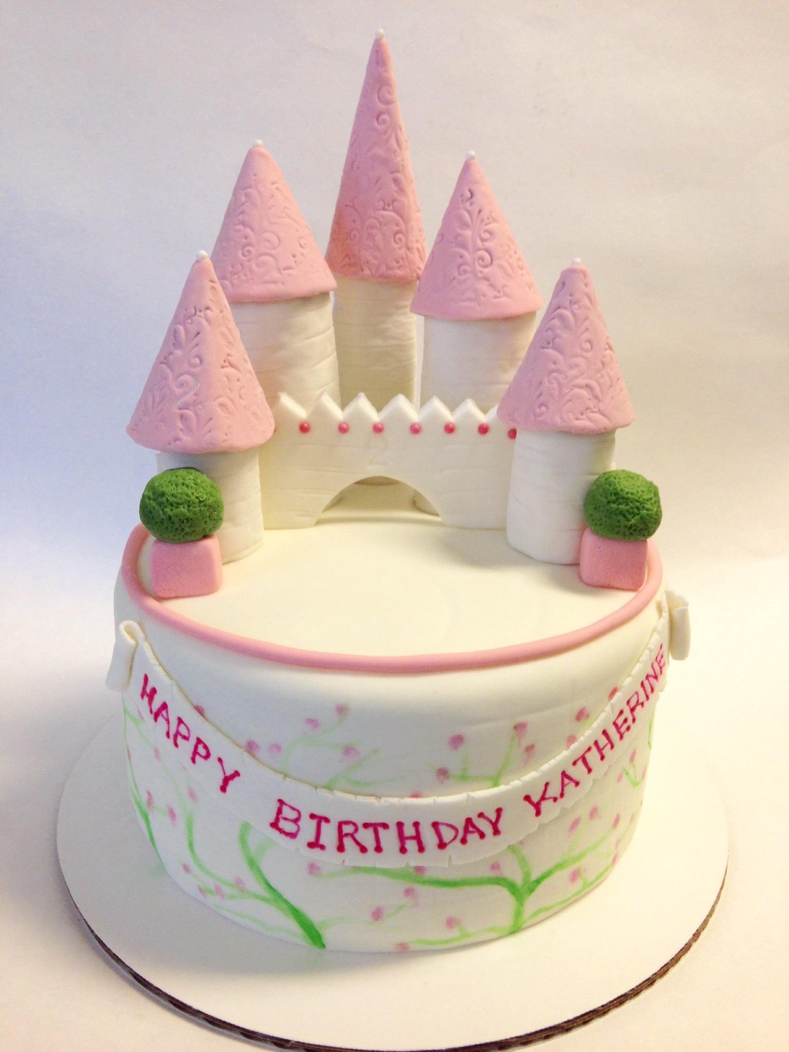 Princess Castle Birthday Cake Dani Cakes Savannah